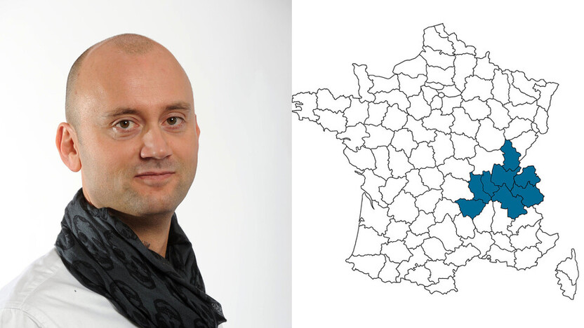 contact person, sales, profile and map, Christophe Alignol, rockfon, france, FR