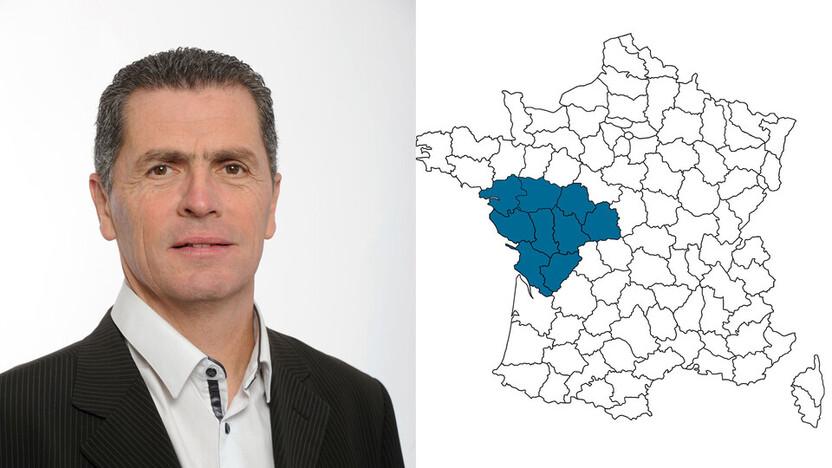 contact person, sales, profile and map, Bruno Beillard, rockfon, france, FR