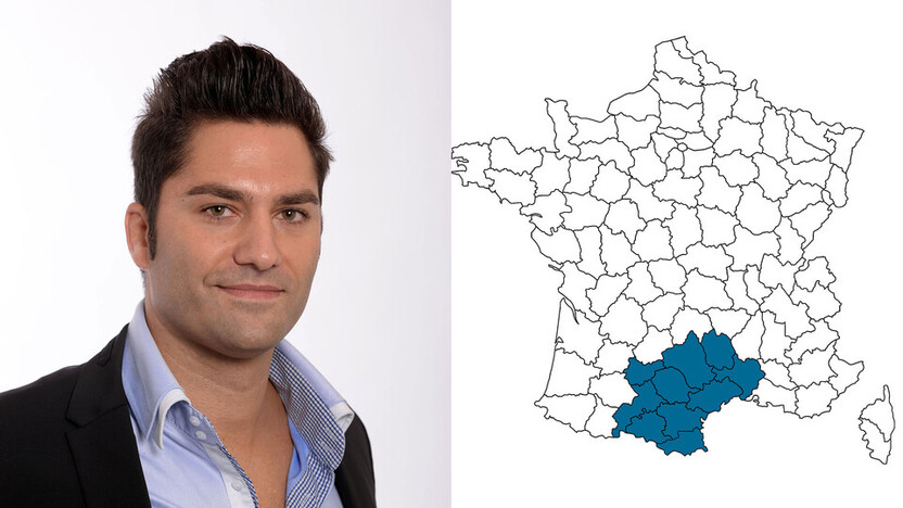 contact person, sales, profile and map, Olivier Cauquil, rockfon, france, FR