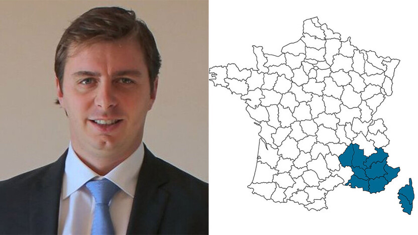 contact person, sales, profile and map, Pierre Boiron, rockfon, france, FR