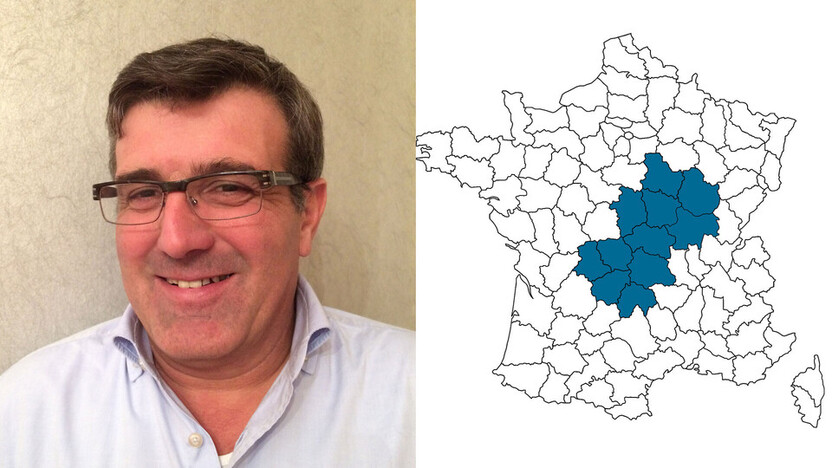 contact person, sales, profile and map, Michel Charbonnier, rockfon, france, FR