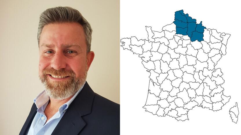 contact person, sales, profile and map, Stephane Patricio, rockfon, france, FR
