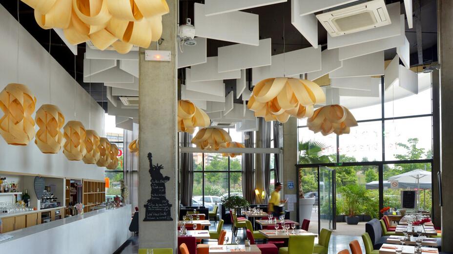 Jeroboam, cafe, café, restaurant, Rockfon Contour, 2012