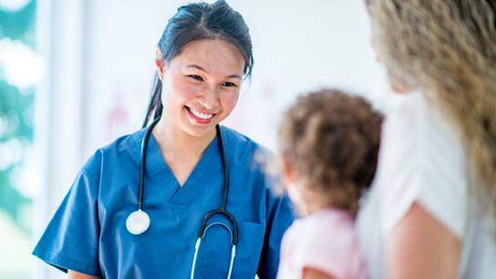 segment illustration, healthcare, doctor, child, mother, nurse, hospital